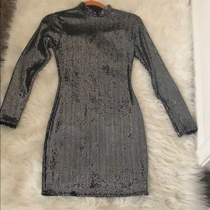 MisGuided Metallic Shimmered Dress!Worn Once.